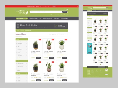 Garden Store - Product Listing Concept design ecommerce ui website design website