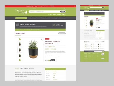 Garden Store - Product Details Concept design ecommerce ui website design website
