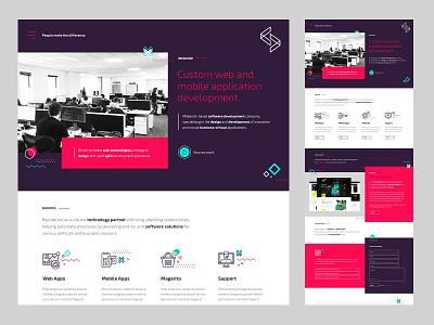 wkdcode - Home Page design brand identity brand ui website design website