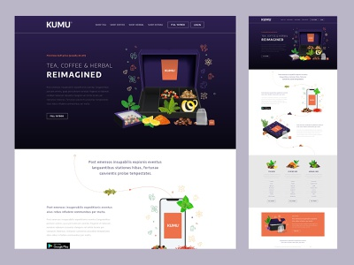 KUMU - Home Page ecommerce brand ui website design website