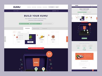 KUMU - Package Builder ecommerce design brand ui website design website