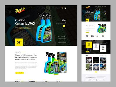 Meguiars - Home Page design ecommerce website design website ui