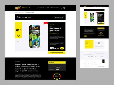 Meguiars - Product Details design ecommerce website design website ui