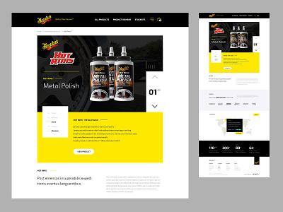 Meguiars - Category Landing design ecommerce website design website ui