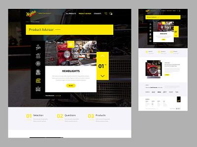 Meguiars - Product Selector design ecommerce website design website ui
