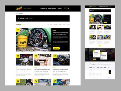 Meguiars - News/Blog newsfeed blog ecommerce website design website ui