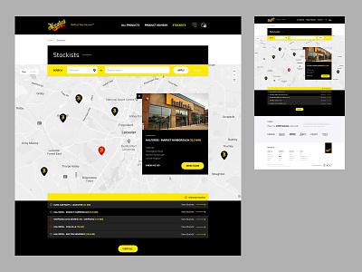 Meguiars - Stockists Finder stores stockists ecommerce website design website ui