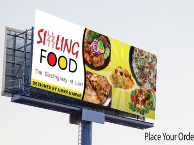 Billboard Design(Food mockup) illustration banner ad logo billboard mockup billboard