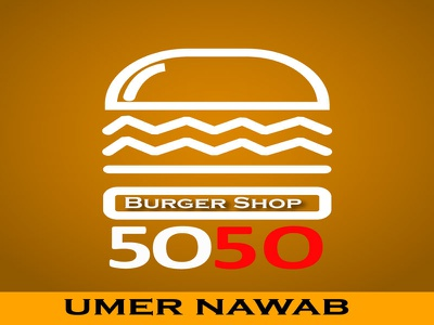 Logo For Burger Shop adobe illustrator logo design branding illustration
