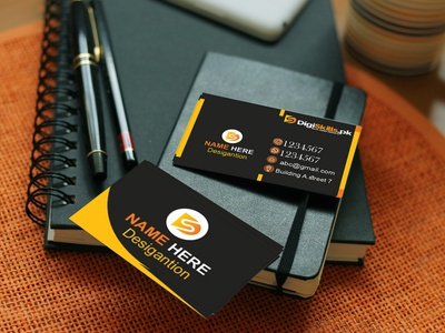 Business Card (Mockup) brand identity art print office logo design graphic flat elegant creative icon illustration branding logo adobe photoshop adobe illustrator business card design