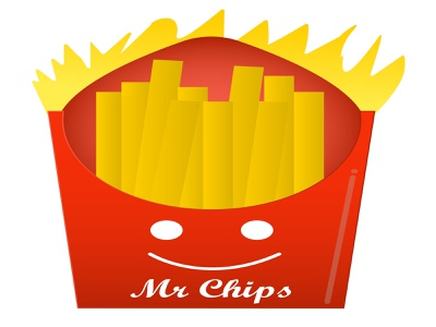 Mr chips Logo delicoious food fast food billboard creative graphicdesign adobe photoshop brand identity logo adobe illustrator design illustration branding