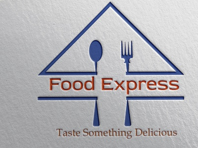 Logo Mockup Food Express mockup graphicdesign creative illustration brand identity adobe photoshop adobe illustrator design branding
