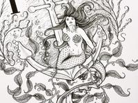 Nautical Mermaid & Anchor Monogram