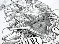 """Per Aspera Ad Astra"" Nautical Illustration"