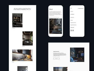 FRANKLIN-Luxury apartments website minimalism clean landing page ux ui concept web webdesign design