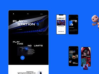 PlayStation 5 — website redesign playstation5 sony minimalism webdesign web ux ui design