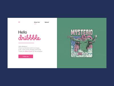Hello Dribbble design mysterio hellodribbble hello debut webdesign