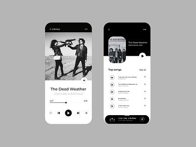 Music player music app music clean design design ui ux music player mobile player mobile app