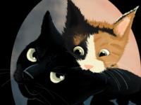 Nox & Nova ipad cats animal illustration digital art drawing digital illustration design illustration procreate
