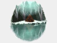The Dream dream home home cozy winter snow woods cabin forest digital illustration illustration procreate