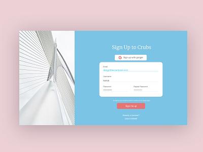Sign up page form digital design ui design architecture pastel colors pastel color ux form sign up signup ui