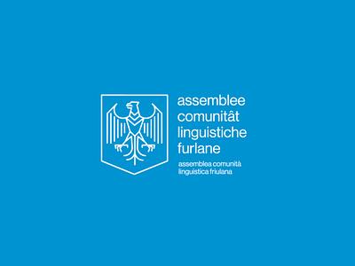 Logo for ACLIF – Assembly of Friulian language speakers modern logo modernism outline logo outline icon art illustration classic helvetica eagle eagle logo typography icon vector branding logo design