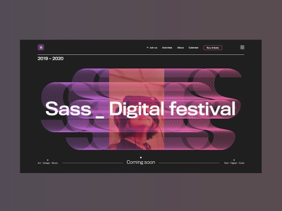 Sass festival :: Launch page concept landing design menu ui design ux design modernism design digital festival art typography brutalist