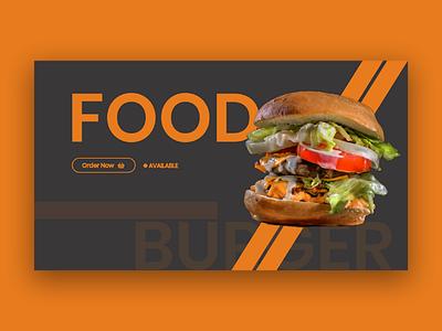 Food ft. Burger food delivery food concept card burger