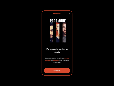 UX Writing Day - 8 day 8 paramore music app ux writing challenge mobile ui