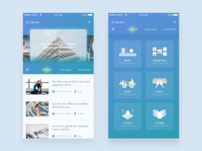 Concept App about events