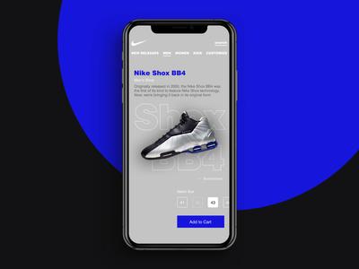 Nike - Ecommerce Mobile UI