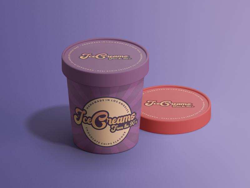 Ice Creams #dribbbleweeklywarmup mockup ice cream logo icecream vintage branding design brand identity brand design vector logo branding design