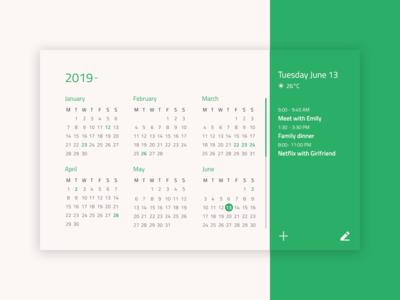#DailyUI 038 Calendar