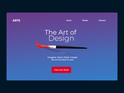 Landing Page For Art