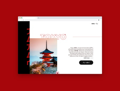 Japan Travel - Concept Website
