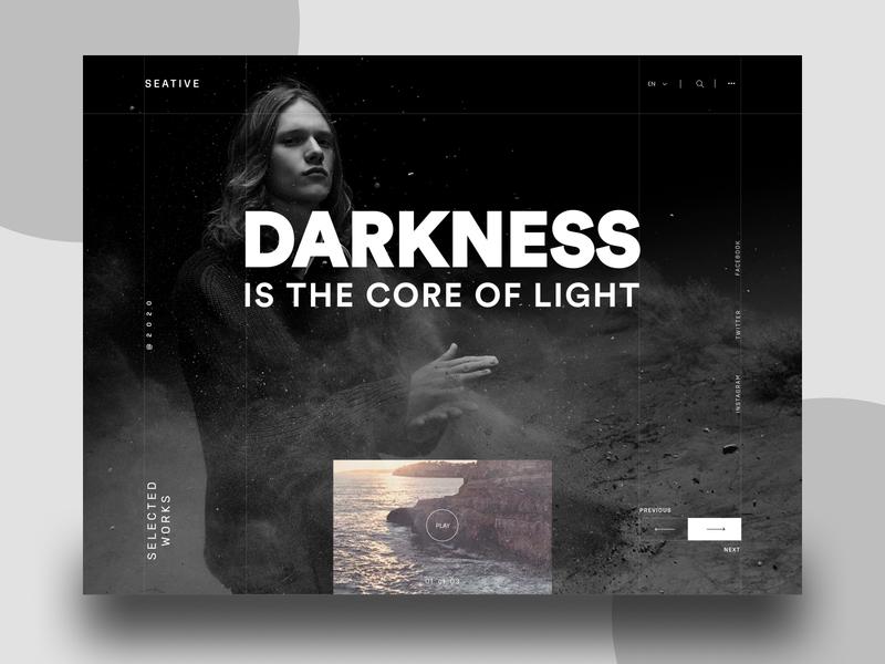 Darkness photography website photography portfolio photography portfolio site portfolio website portfolio corporate website website dark theme dark mode dark app dark ui