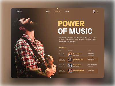 Musical ux ui musical artist app website minimal landing page music artwork music album yellow music application music app design music app ui music website musician music art music player music app music