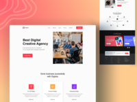 Agency landing page product design landing page ui landing page concept landing page design website designer web designer redesign concept redesign agency landing homepage design web webdesign agency landing page agency branding agency website website landing page minimal website design