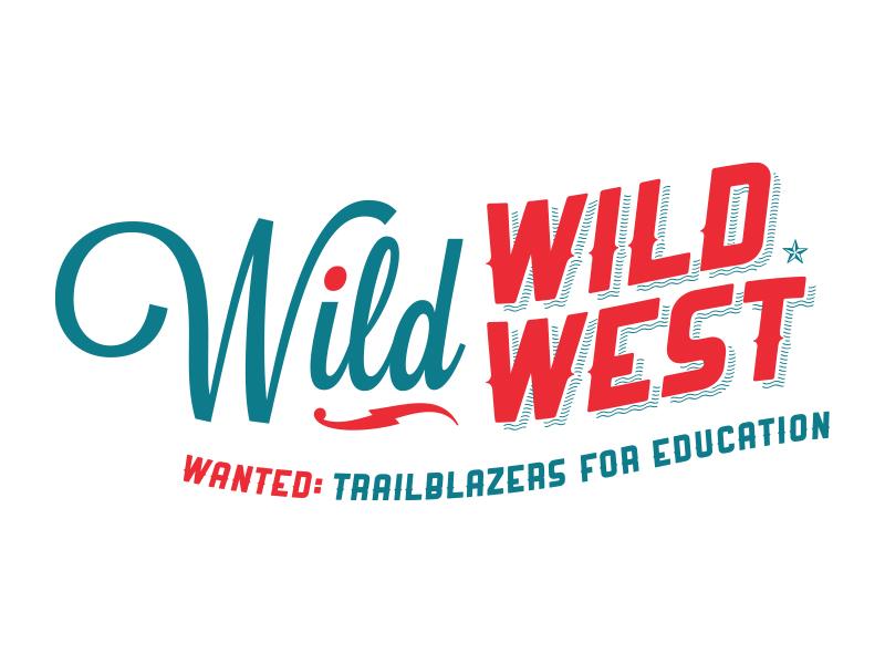 Wild Wild West Gala Logo logo wild wild west red white blue america western cowboy old west