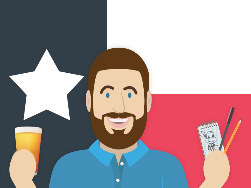 Craft beer, Texas and Drawing craft beer texas texas flag beer drawing doodle sketch sketchbook pencil pen lone star state illustration