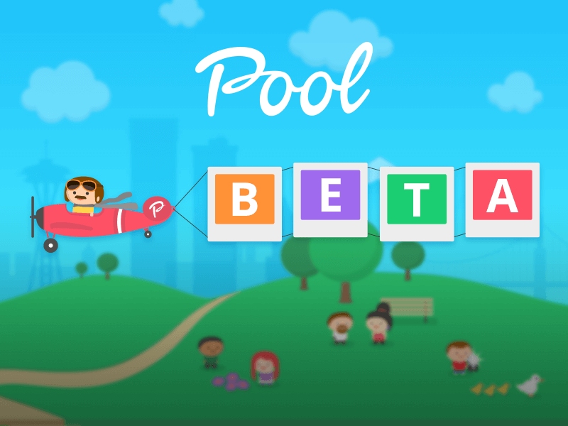 Pool - Beta iphone android app illustration sharing photos photo sharing mediafire pool