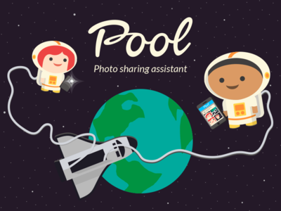 Pool - Global launch global iphone android app illustration sharing photos photo sharing mediafire pool