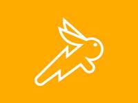 Rabbit Logo speed jack rabbit bunny lightning lightning bolt fast rabbit