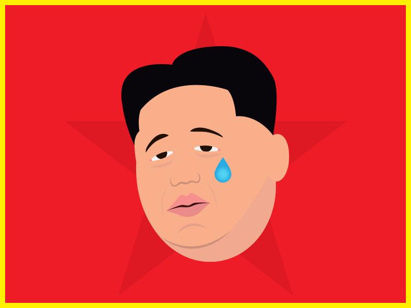 Kimunji - The Real Kimoji emoji illustration best kim best korea north korea kim jong un kim kardashian