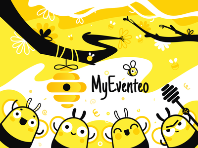 Myeventeo logo illustration vectorart branding ui ux illustrator design adobe illustrator