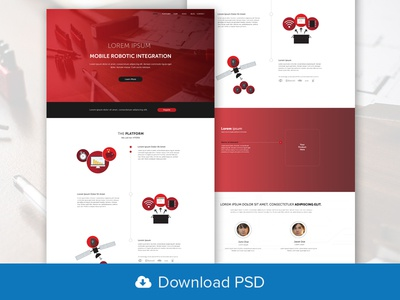 Robotics PSD Website Template
