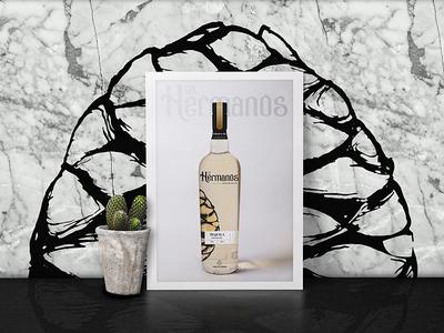 Los Hermanos Tequila Bottle