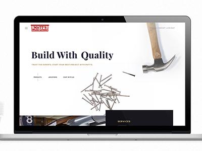 Website for Matt's Building Materials
