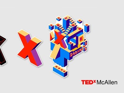 TedxMcAllen Branding Concept - Visual Identity Elements