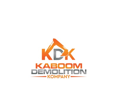 Kaboom Demolition Kompany construction logo design logo